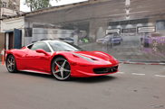 Made to stand out: red chrome Ferrari 458 Italia