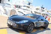 Aston Martin One-77 in the port of Cannes