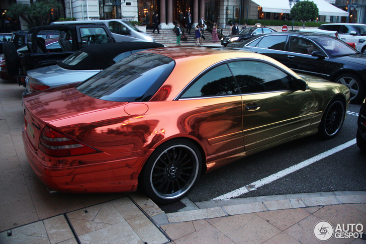 Unique wrap on a Mercedes-Benz CL 55 AMG!