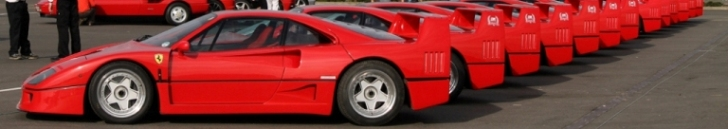 60 Ferrari F40's during the 2012 Silverstone Classic