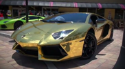 Golden Lamborghini Aventador LP700-4, something else then a golden ring
