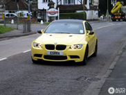 BMW M3 E92 in Dakar Yellow