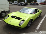 Beautiful green Miura P400 S spotted!