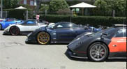 Movie: fourtheen Pagani&#039;s on a row!