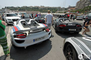 This is just exaggerating: four Porsche 918s in Monaco