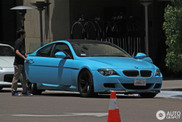 We never saw such a baby blue BMW M6 ever before