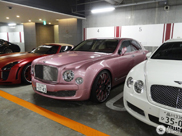 Another special Bentley Mulsanne spotted: in pink!