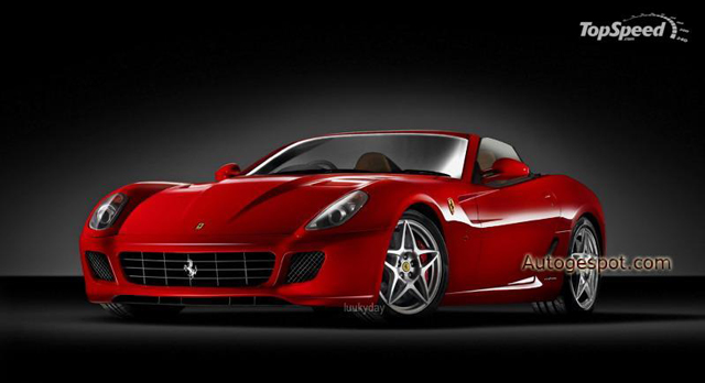 Ferrari 599 Roadster staat op Pebble Beach