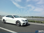 Spyspot: Mercedes-Benz C 63 AMG Coupé Black Series met Aero pack