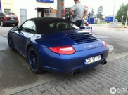 Beautiful dark blue Porsche 997 Carrera GTS Convertible spotted
