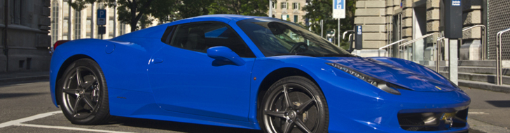 Ferrari 458 Spider spotted in remarkable color