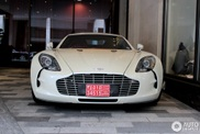 Stunning in white as well: Aston Martin One-77