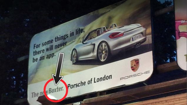 Huge mistake on a billboard in the center of London