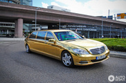 Long, luxurious and gold: Mercedes-Benz S 600 Pullman Guard