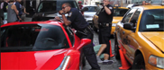 Guy drives over foot of NYPD agent!