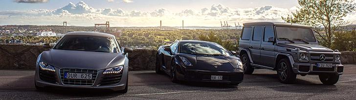 Op pad met een Lamborghini Gallardo in Göteborg