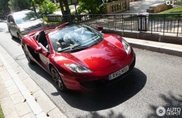 McLaren MP4-12C Spider spotted in its natural habitat
