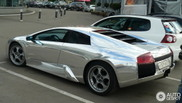 Bling-bling at its top: shiny Lamborghini Murciélago in Moscow