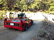 Owner goes out camping with his Ferrari F40