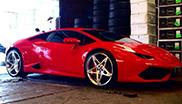 Lamborghini Huracán LP610-4 on Forgiato wheels looks amazing