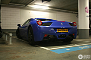 Spotted: Ferrari 458 Spider in Bugatti Blue