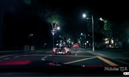 Pure fun: group of supercars driving through the city!