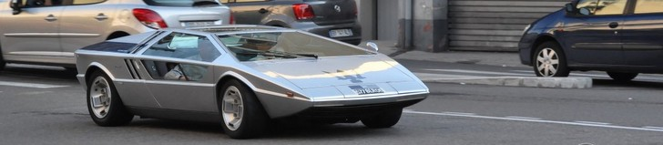 Unique Maserati Boomerang shows up in Nice