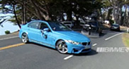 This is the new BMW M3 Sedan in a Yas Marina blue colour