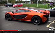 Shmee takes a passengers ride in the McLaren P1