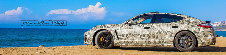 Photoshoot: Porsche Panamera Turbo S with an army wrap