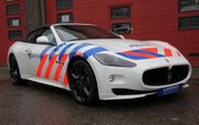 Bizarre: Maserati Quattroporte with nine passengers pulled over!