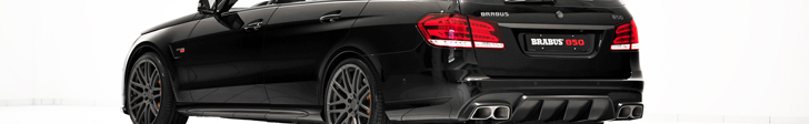 Keihard naar de wintersport! BRABUS E63 Estate 850 6.0 Biturbo!