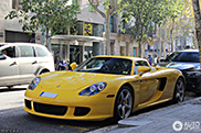 Yellow Carrera GT is an outstanding appearance in Barcelona