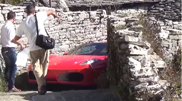 How to fit your F430 into a narrow street!