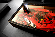 Is there anything more ridiculous? A Ferrari coffee table!