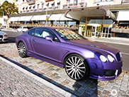 Purple Mansory stands out in Stockholm