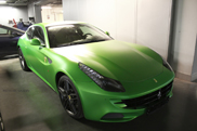 Only in Moscow: matgroene Ferrari FF 