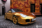 Only in Russia: the golden Porsche of Denis Simachev