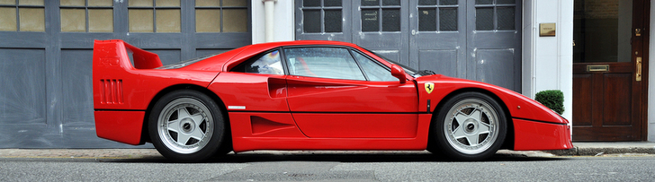Photographic delight from London: Ferrari F40