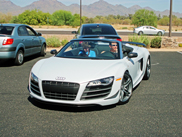 Great experience: taking a ride in a Audi R8 GT Spyder