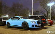 Spot van de dag: matblauwe Bentley Continental GT Speed