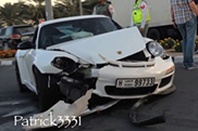 Porsche GT3 RS crasht in Dubai