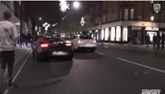 Ferrari FF almost crashes into a Lamborghini Gallardo