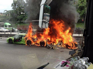 Three Lamborghinis burn down in Malaysia