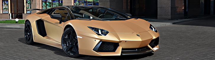 """The Golden Aventador"" is all but discrete!"