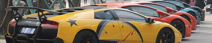 Enormous supercar meeting shows China's wealth