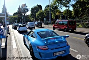 Porsche 997 GT3 looks great in this light blue colour